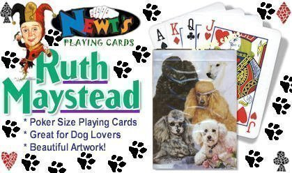 Poodle Playing Cardsby Ruth Maystead