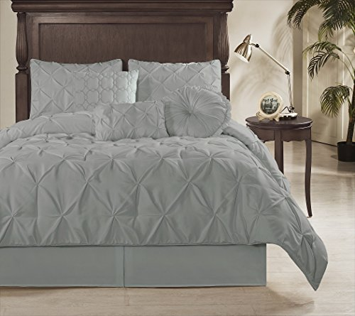 Gray Bedding Sets King 9509 front