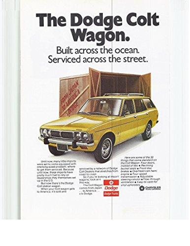 1973 Vintage Magazine Advertisement The Dodge Colt Wagon