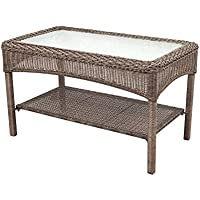 Martha Stewart Living Charlottetown Wicker Patio Coffee Table