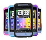 ITALKonline SoftSkin 5 PACK BLACK PINK PURPLE WHITE BLUE Silicone Protective Armour/Case/Skin/Cover/Shell for HTC Salsa