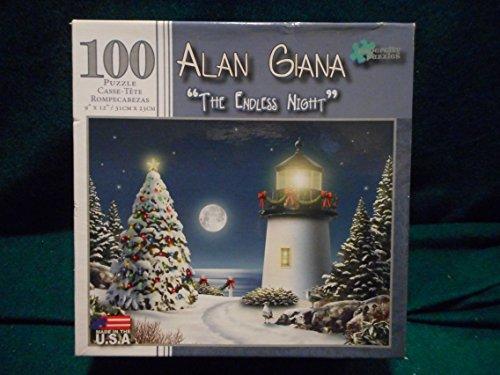 """Oh Penguin Tree"" Alan Giana 100 Piece Christmas Jigsaw Puzzle"