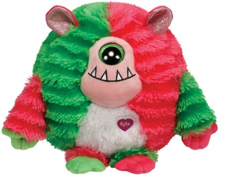 "Ty INC Monstaz Spike the Pink & Green Cyclops 5"" Plush Toy"