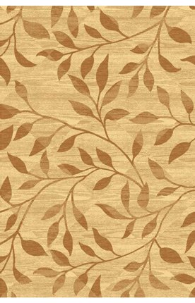 Crescent Drive Rugs 6293-110 Natural Beauty Flowers Cream Contemporary Rug Size: 5' x 7'