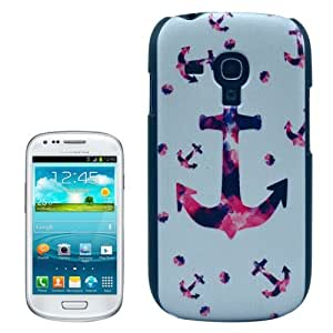 Crazy4Gadget Anchor Pattern Hard Plastic Protective Case for Samsung Galaxy SIII mini / i8190