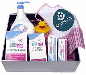 Canastilla Regalo Bebé BABYSEB ROSA by Farmagenia Cesta para Bebés y Recién Nacidos en BebeHogar.com