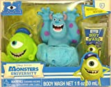 Disney Monsters University Tub Time Friends 3 Pcs Bath Gift Set - Includes 2 Bath Poufs & Body Wash