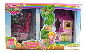 Belinda My Sweet Home Battery Operated Toy Doll Play Set w/ Flashing Light, Melody, Mom, Dad, Figures