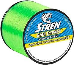 Stren High Impact Monofilament Fishing Line, Hi-Vis Green, 650-Yard/20-Pound