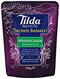 Tilda Steamed Basmati Brown Rice 250 g (Pack of 6)