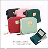 S-BBG レディース シンプル さいふ 二つ折り財布 ミニ財布 オシャレ ラウンドファスナー 小銭入れあり