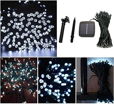 1 Pcs Paradisiac Popular 200x LED Solar Power Nightlight Waterproof Garden Lawn Strip Gift Colors White