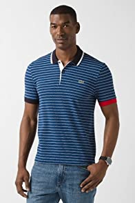 L!VE Short Sleeve Small Stripe Polo