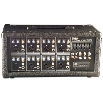8 Channel Powered Mixer w/ Digital Delay ~ 75W