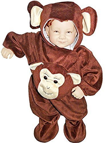 [Fantasy World Boys/Girls Monkey Halloween Costume, Size 3T, J47] (Toddler Frog Prince Halloween Costume)