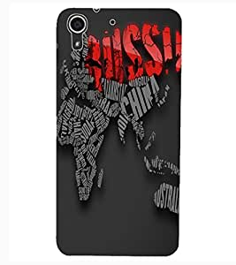 ColourCraft Typography Design Back Case Cover for HTC DESIRE 626S