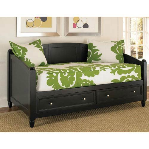 Home Styles 5531-85 Bedford Daybed with Storage, Black Finish