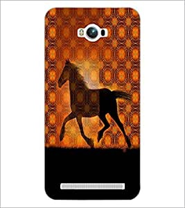 PrintDhaba Horse D-2910 Back Case Cover for ASUS ZENFONE MAX ZC550KL (Multi-Coloured)