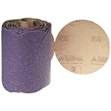 "3M Stikit Paper Disc Roll 735U, PSA Attachment, Ceramic Aluminum Oxide, 5"" Diameter, P80 Grit (Roll of 100)"