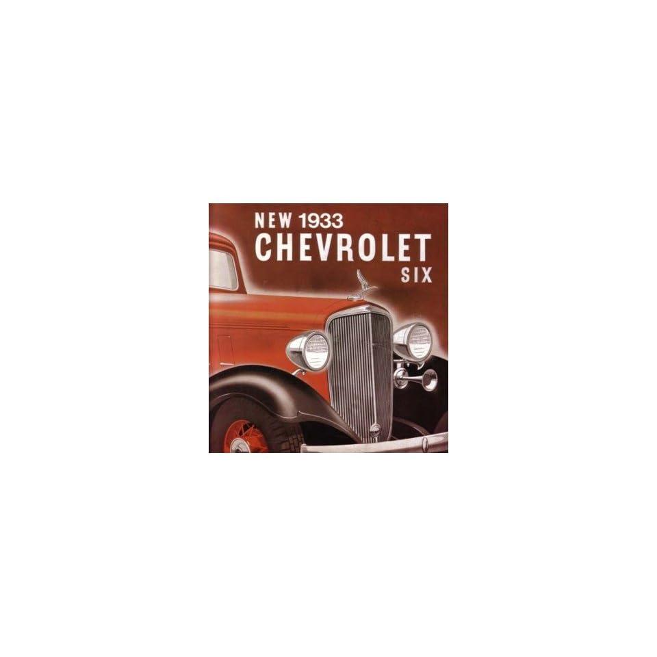 1933 CHEVROLET SIX Sales Brochure Literature Book Piece