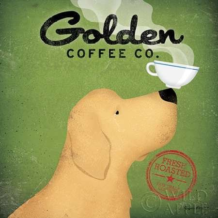 Golden Coffee Co. created by Fowler, Ryan - Fine Art print on canvas stretched Gallery wrap style on sturdy 20 x 20 Inch poplar wood Frame - READY TO HANG