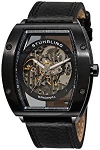 "Stuhrling Original Men's 206B.33152  ""Leisure Zeppelin"" Stainless Steel Automatic Watch with Leather Band"