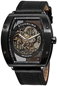"""Stuhrling Original Men's 206B.33152  """"Leisure Zeppelin"""" Stainless Steel Automatic Watch with Leather Band"""