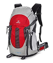 TOFINE Sport Outdoor Climbing Backpack Comfortable Mountaineering Waterproof for Camping Hiking Trekking Climbing(Red 25L)
