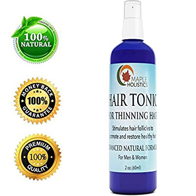 Hair Tonic for Thinning Hair - Hair Thickener for Women & Men - All Natural Hair Growth Treatment - Hair Shedding Product - Promote Healthy Hair - Advanced Formula with Argan & Tea Tree Oil