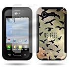 CoverON® for LG Optimus Zone 2 / Fuel Case and Screen Protector (Free Birds Design) Hybrid Cover
