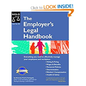 The Employer's Legal Handbook Fred S. Steingold and Amy Delpo