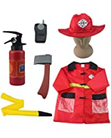 Firefighter Costume - iPlay, iLearn Fire Chief Role Play Costume Set