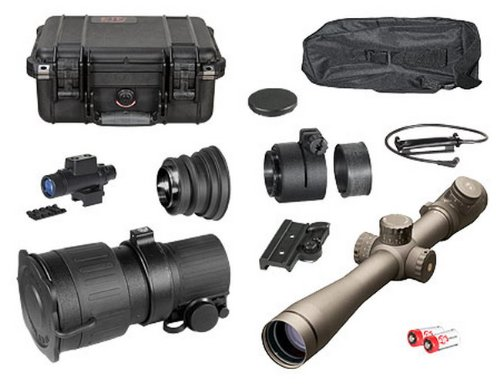 Atn Ps22-2 Gen 2+ Day/Night Vision Tactical Kit W/ Leupold Mark 4 3.5-10X40Mm