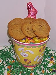 Scott\'s Cakes Cookie Combos Special - Peanut Butter and Pecan 1lb. Yellow Bunny Pail