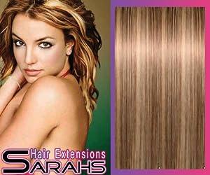 22 inch Brun Blonde (8/613). Plein la tête. Clip audio dans les Extensions de cheveux synthétiques.