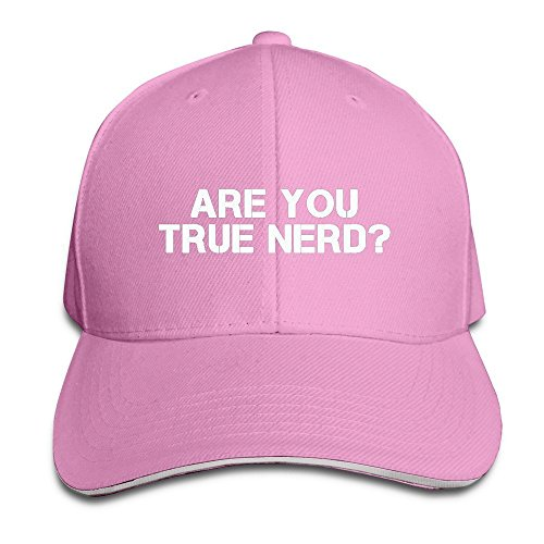 Runy Custom Are You Nerd Adjustable Sanwich Hunting Peak Hat & Cap Pink (Pepsi Jelly Beans compare prices)