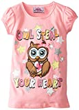 Beautees Little Girls' Owl Steal Your Heart Top