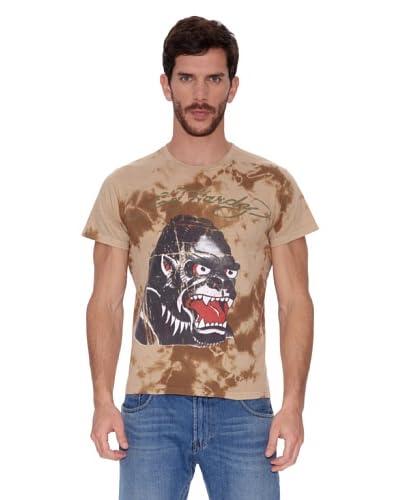 Ed Hardy Camiseta Natural Aged Tie Dye Tee