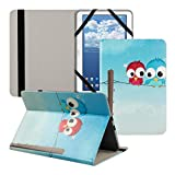 Kwmobile® Universal leather case Bird design for 10