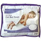 Anti-Allergy Cot Bed Duvet with Pillow ,For Cot Bed 4.5, 7.5 & 9 Tog with Hollowfibre filling (7 Tog)