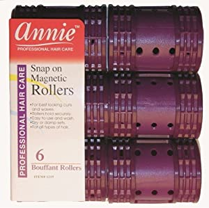 Amazon.com : Annie Snap on Magnetic Rollers 6 pack X-Jumbo #1219