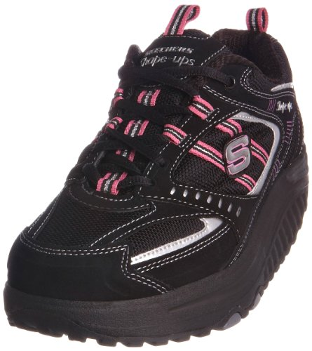 Shape Ups Women's Motivation Black/Pink Casual Lace Up 11817 4 UK