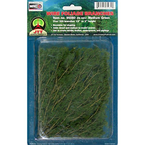 JTT Scenery Products Foliage Branches, Medium Green