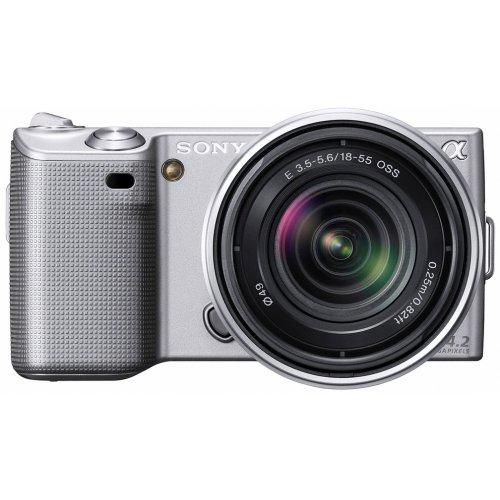 Sony NEX5KS Alpha Compact System Camera - 18-55mm F3.5-5.6 OSS Lens - Silver