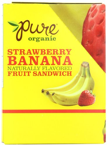 Pure Organic Fruit Sandwich, Strawberry Banana, 20 Count