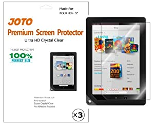 JOTO Premium Screen Protector Film for Barnes and Noble NOOK HD+ 9 inch Tablet, Ultra Crystal Clear (Invisible) with Lifetime Replacement Warranty (3 Pack)
