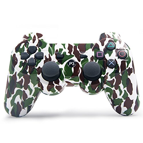 JCalcifer PS3 Wireless Controller Dual Shock Vibration Gamepad for Playstation 3 - Camouflage