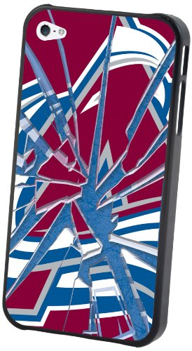 NHL Colorado Avalanche iPhone 4/4S Broken Glass Lenticular Case