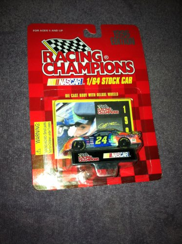 Racing champions 1996 edition jeff gordon #24 dupont car with card