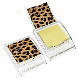 Cheetah Print Sticky Note Holder